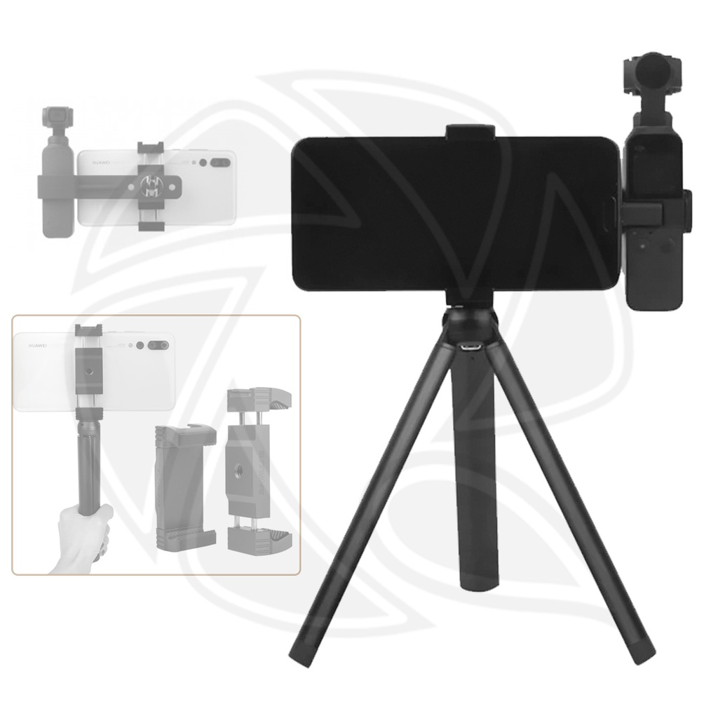 SUNNY LIFE SMARTPHONE FIXING CLAMP & TRIPOD FOR OSMO POCKET- OP-ZJ057-D