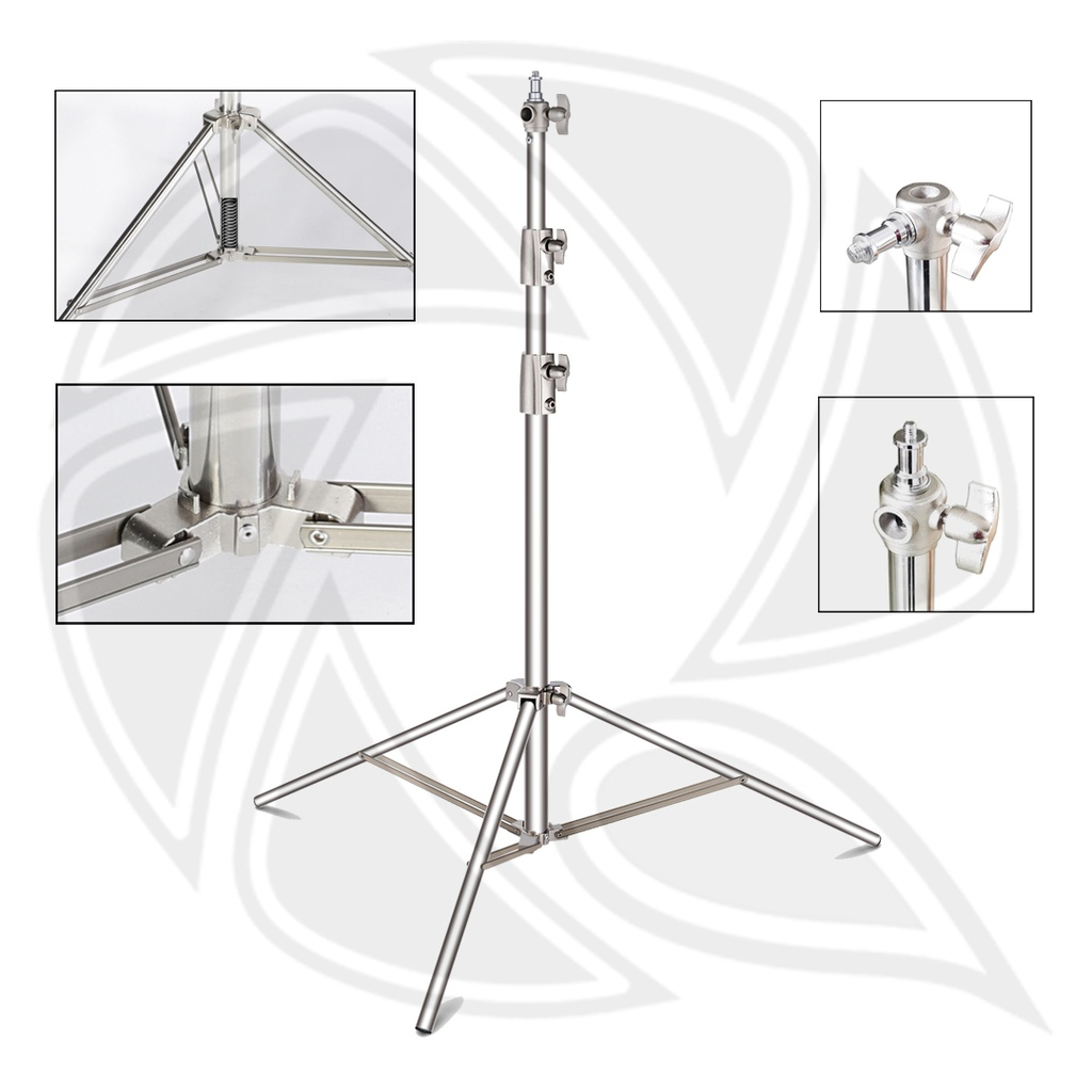 QIHE J288S Stainless Steel Light Stand