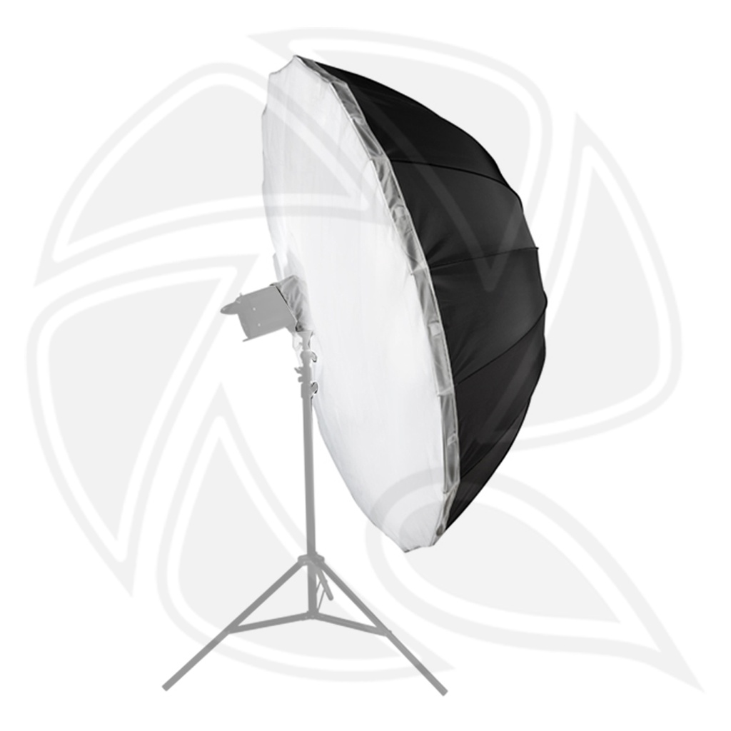LIFE OF PHOTO AU48SH 105cm parbolic umbrella black/sliver