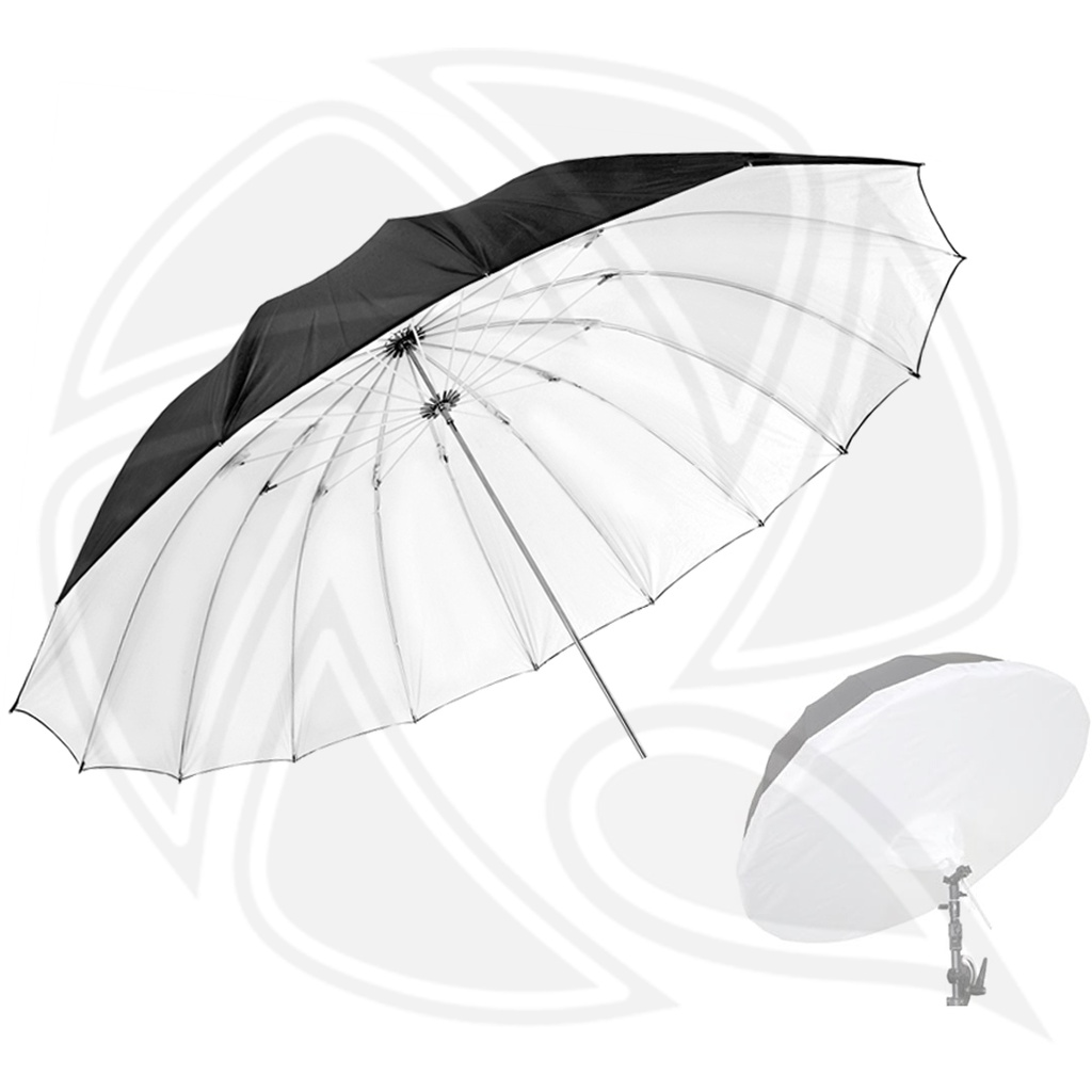 LIFE OF PHOTO AU48SX 160cm parbolic Umbrella black/white